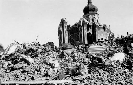 Київський Успенський собор після вибуху